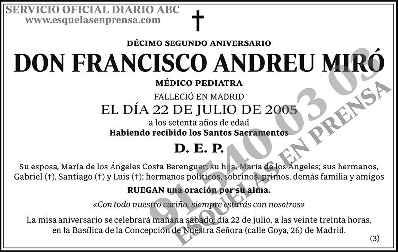 Francisco Andreu Miró